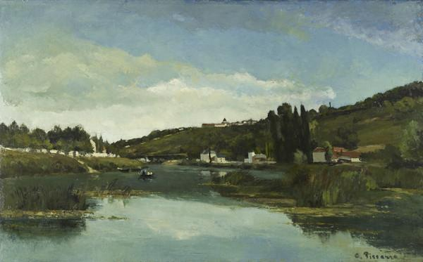 The Marne at Chennevières (About 1864 - 1865)