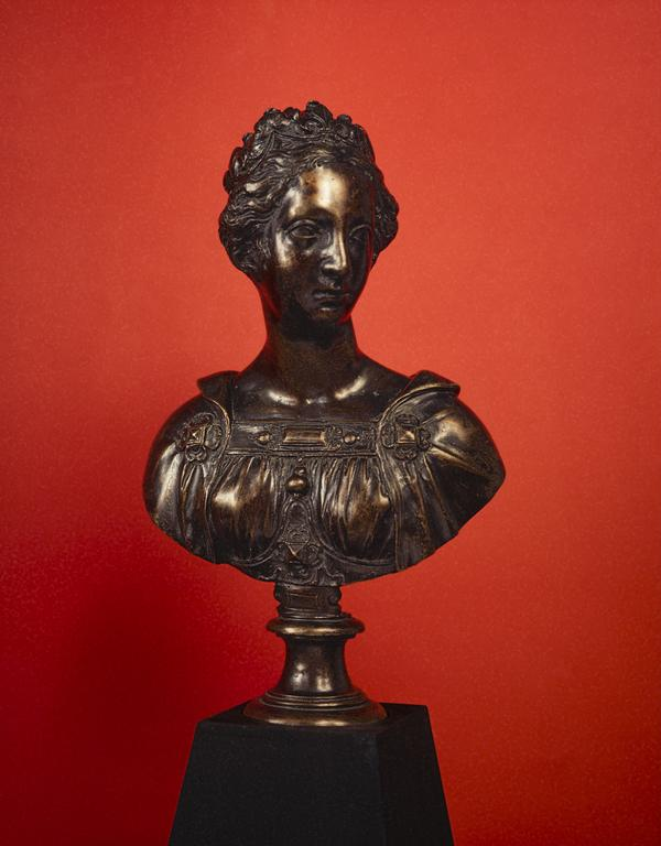 Allegorical bust of a young woman, possibly 'France' (formerly known as Mary, Queen of Scots) (About 1600)