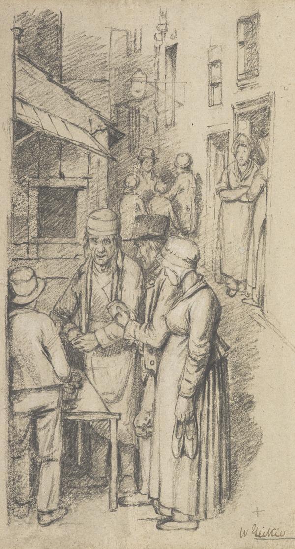 Scene Outside a Cobbler's Shop