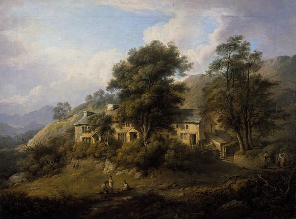 Elleray ('The Old Cottage at Elery in Westmoreland, the seat of John Wilson Esqr') (About 1808)