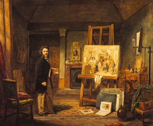 Thomas Faed, 1825 - 1900. Artist (in his studio) (About 1865)