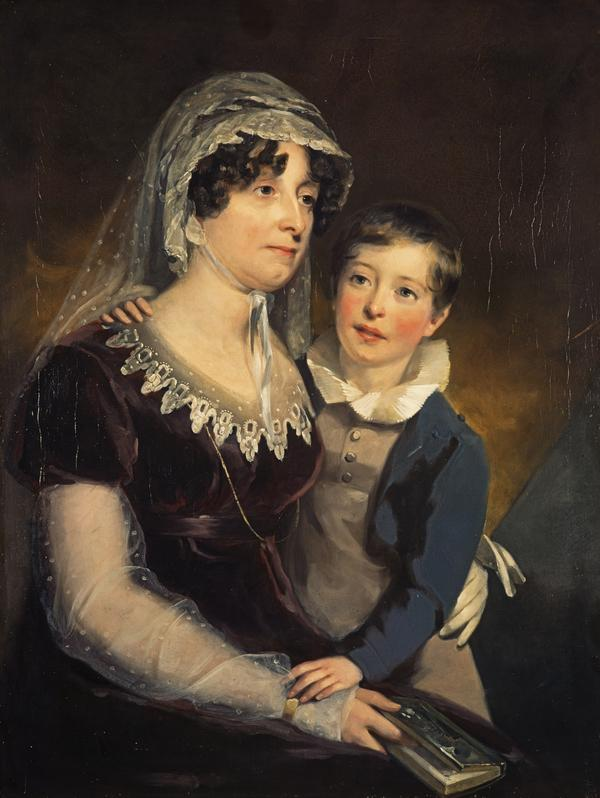 Carolina Oliphant, Lady Nairne, 1766 - 1845. Songwriter (With her son William Murray Nairne, later 6th Lord Nairne, 1808 - 1837) (about 1818)