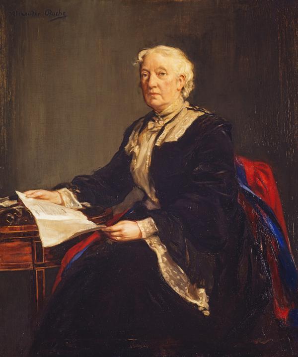Flora Clift Stevenson, 1840 - 1905. Educationalist and philanthropist (About 1904)