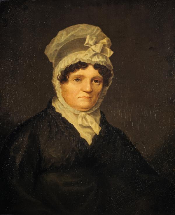 Jean Armour, Mrs Robert Burns, 1765 - 1834. Wife of the poet Robert Burns (1822)