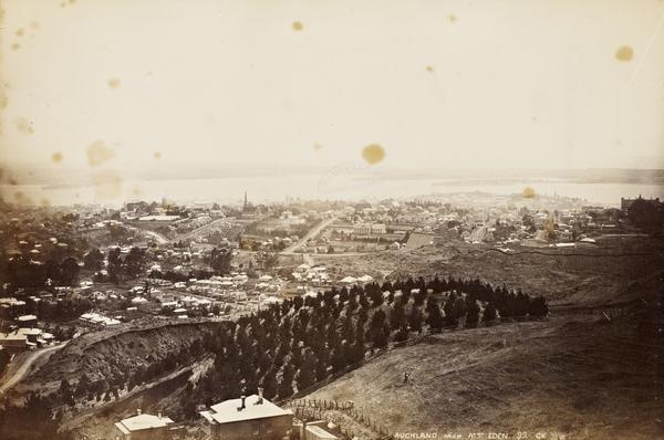 Auckland from Mount Eden (1885)