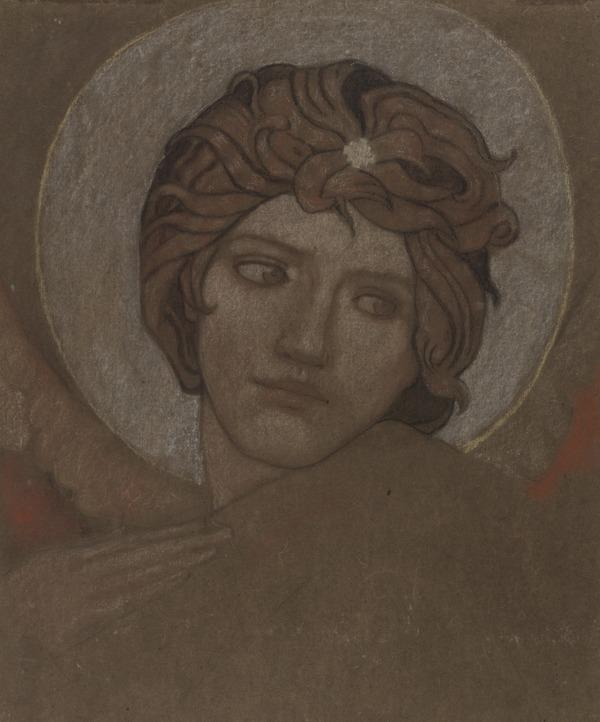 Head of an Angel. Study for the Painting 'Saint Bride' (About 1913)