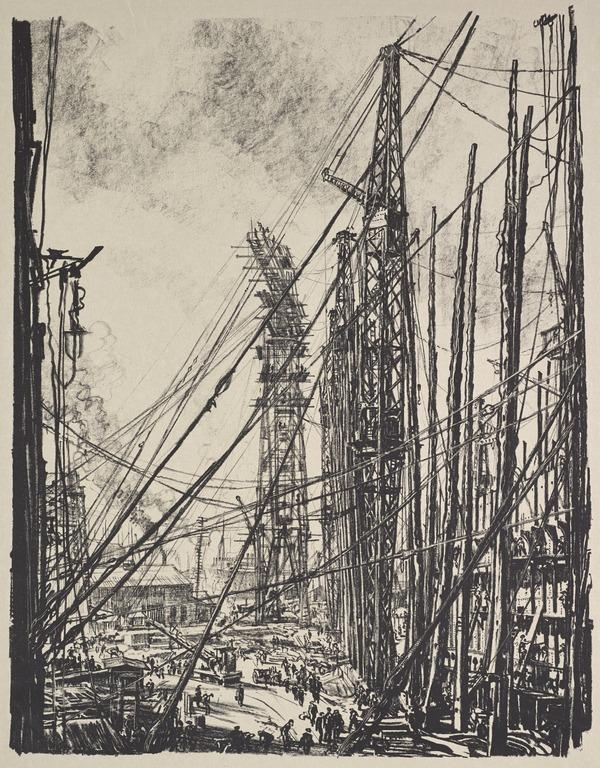 Building Ships: A Shipyard (from the series 'The Great War: Britain's Efforts and Ideals') (Published 1918)