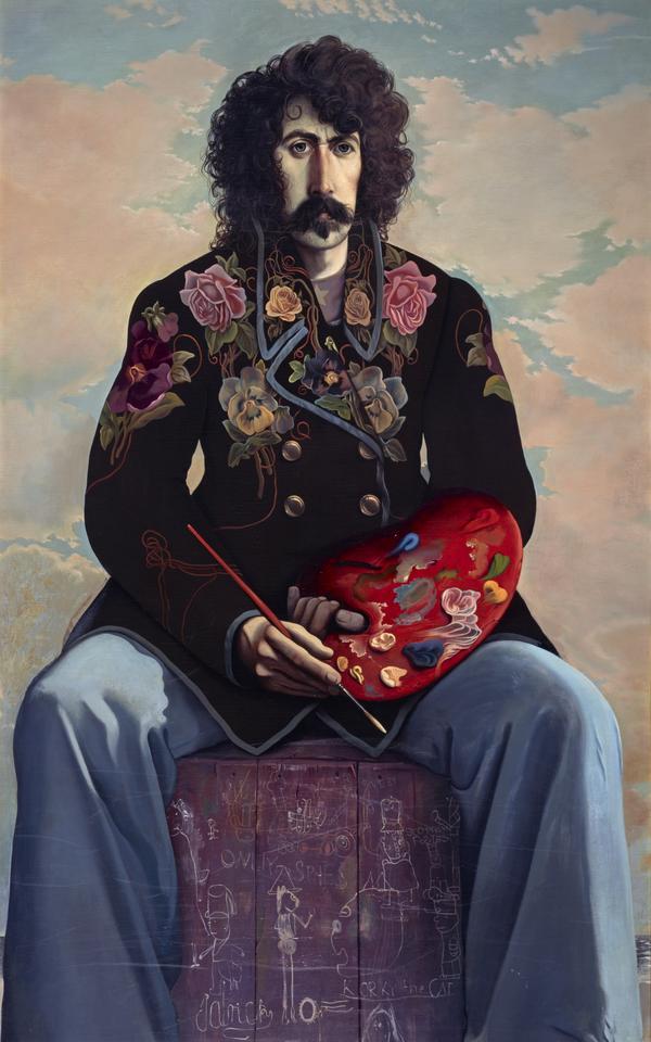 John Patrick Byrne, b. 1940. Artist, dramatist and stage designer (Self-portrait in a Flowered Jacket) (1971 -73)