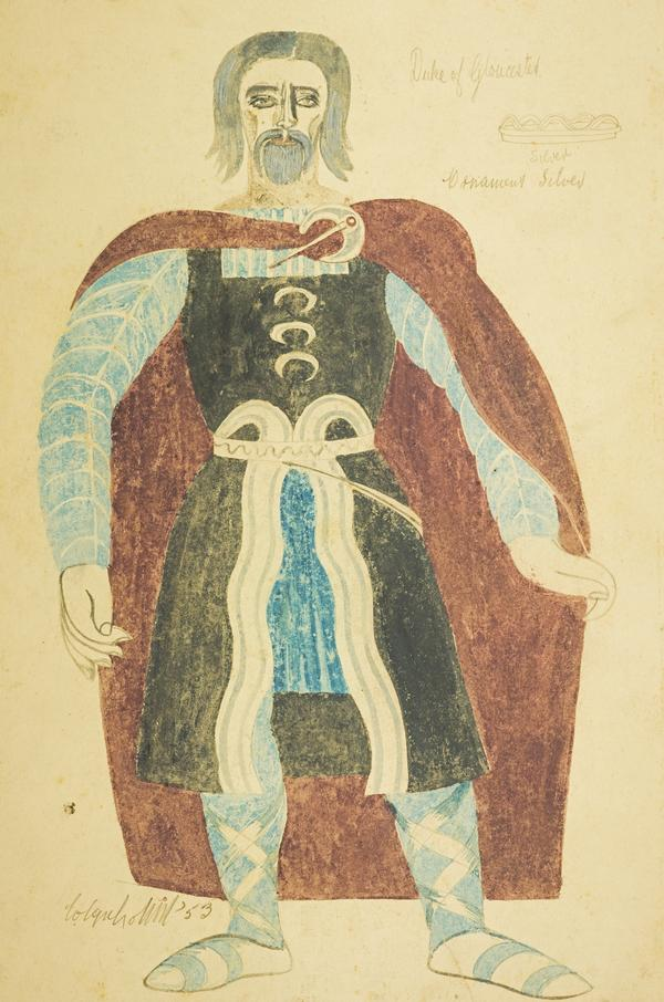 Duke of Gloucester (Costume Design for 'King Lear') (1953)