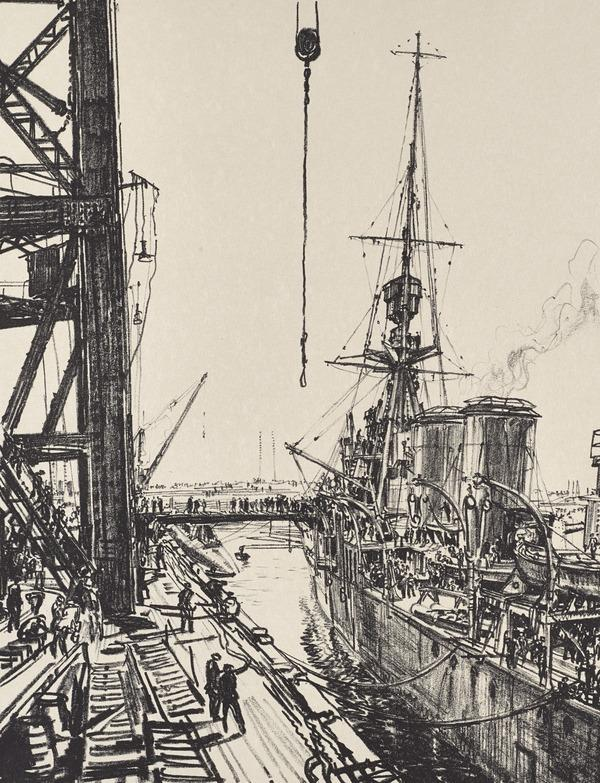Building Ships: Ready for Sea (from the series 'The Great War: Britain's Efforts and Ideals') (Published 1918)