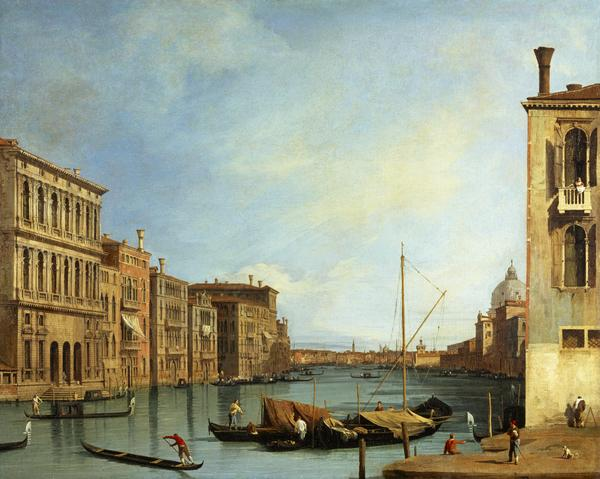 The Grand Canal from the Campo San Vio, Venice (About 1728)