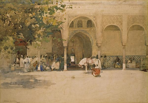 Waiting for the Sultan (Dated 1891)
