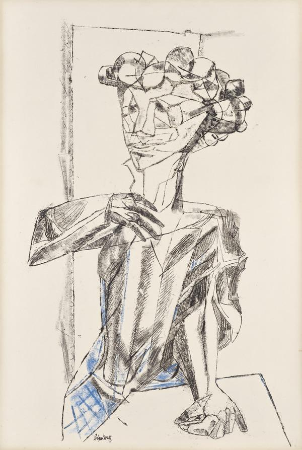Figure at a Table (About 1957)