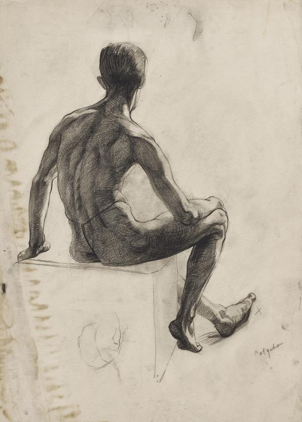 Study of a Male Nude (About 1937 - 1938)