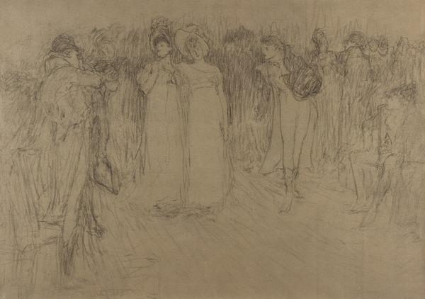 'Bath', Figures Walking in the Street
