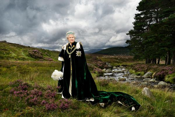 Queen of Scots, Sovereign of the Most Ancient and Most Noble Order of the Thistle and Chief of the Chiefs (born 1926) (Photographed in 2010 (printed 2013))