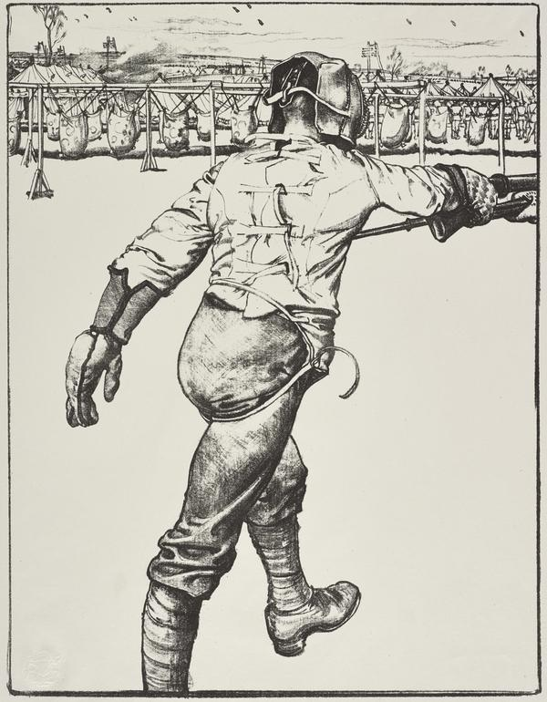 Making Soldiers: Bayonet Practice (from the series 'The Great War: Britain's Efforts and Ideals') (Published 1918)