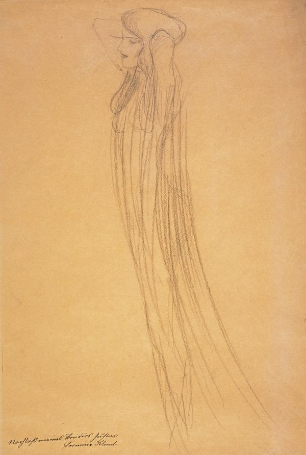 Frau mit durchsichtigem Gewand [Woman in Transparent Drapery] (About 1902)