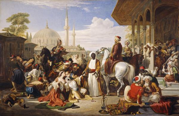 The Slave Market, Constantinople (Dated 1838)
