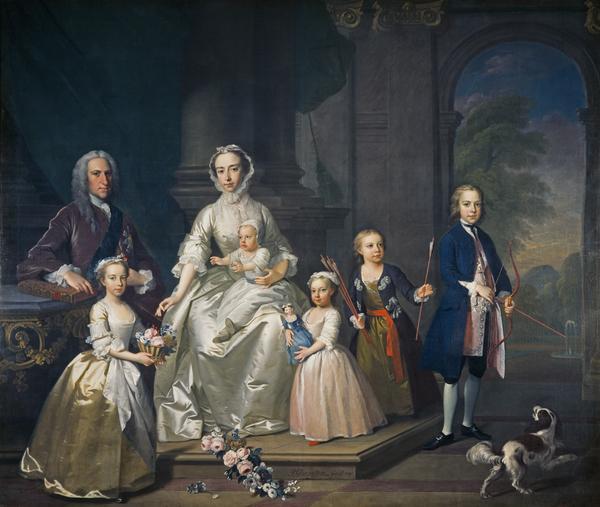 James Douglas, 14th Earl of Morton, 1702 - 1768, and his family (1740)