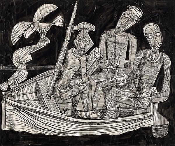Crab Fishermen (three men in a boat) (1946)