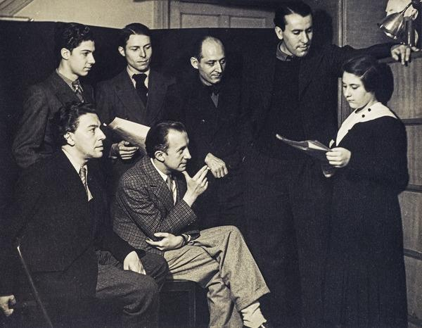 Gisèle Prassinos Reading her Poems to the Surrealists (1934)