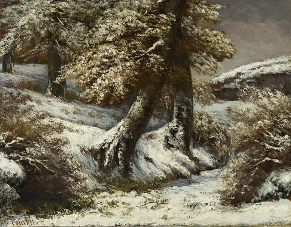 Trees in the Snow (About 1865)