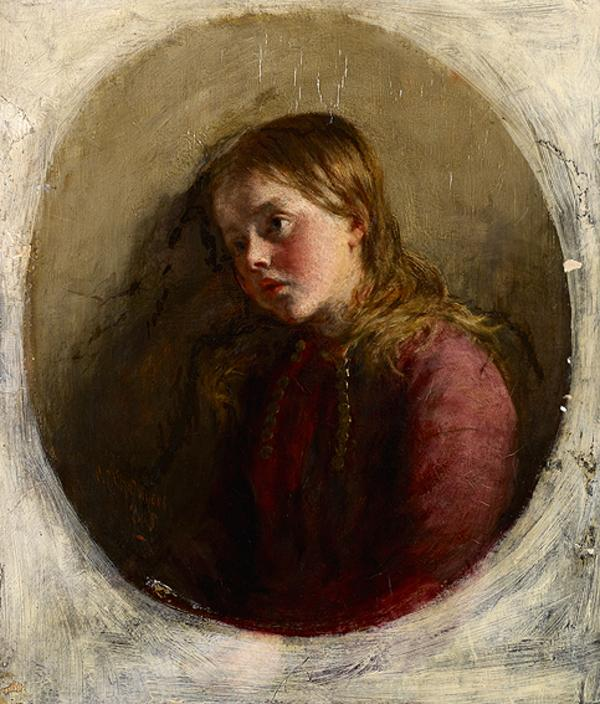 The Tired Devotee (Dated 1865)