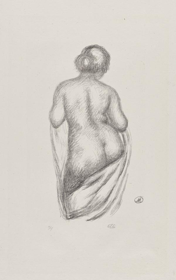 Femme de dos, drapee [Woman from Behind, with Drapery] [G 272] (Published 1925)