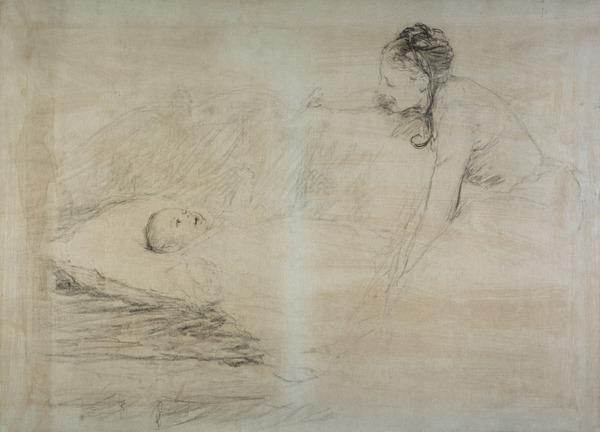 Mother and Child. Study for the Painting 'Master Baby' (About 1886)