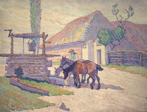 The Well at Mydlow, Poland (No. 2) (1922)