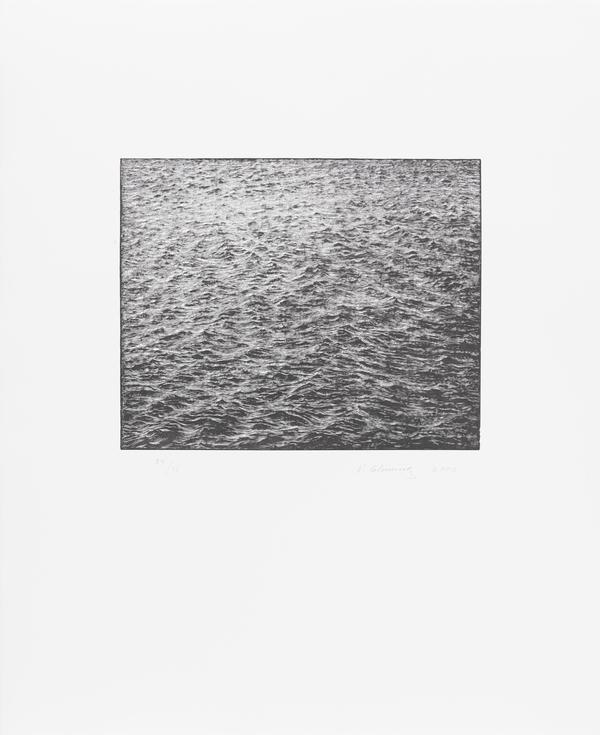 Ocean Surface Wood Engraving 2000 (2000)