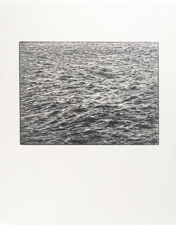 Ocean Surface Woodcut 1992 (1992)