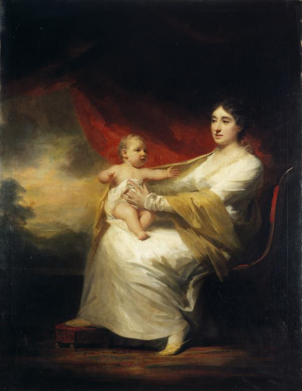 Charlotte Hall, Lady Hume Campbell of Marchmont, and her son, Sir Hugh Hume Campbell, 7th Bart of Marchmont (1812 - 1894) (About 1813)
