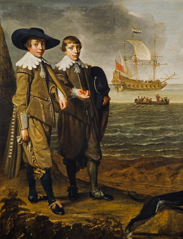 A Dutch Family Group (Portrait of Two Boys) (1633)