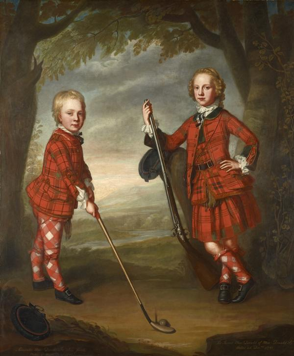 Sir James Macdonald 1741 - 1766 and Sir Alexander Macdonald 1744/1745 - 1795 (About 1749)