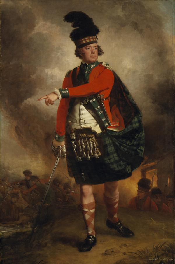 Hugh Montgomerie, 12th Earl of Eglinton, 1739 - 1819. Soldier; Lord Lieutenant of Ayrshire (About 1780)