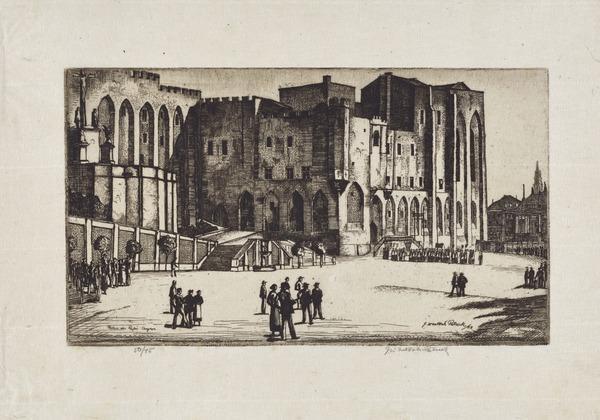 Palais des Papes, Avignon (1928)