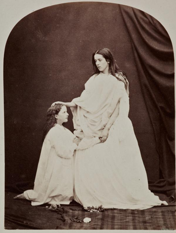 The Hon. Miss White and Lady Agnes Duff as Charity (27 August 1863)