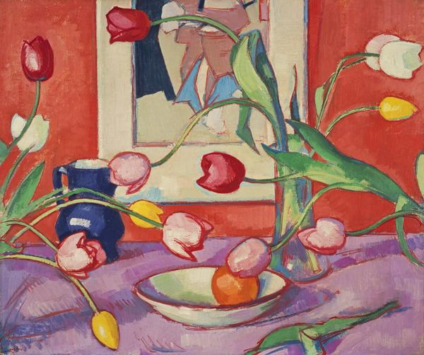 Tulips - The Blue Jug (About 1919)