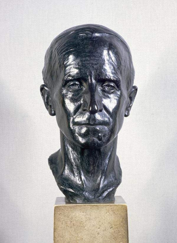 Sir John Buchan, 1st Baron Tweedsmuir, 1875 - 1940. Author and Governor General of Canada (Modelled 1935, cast 1940)