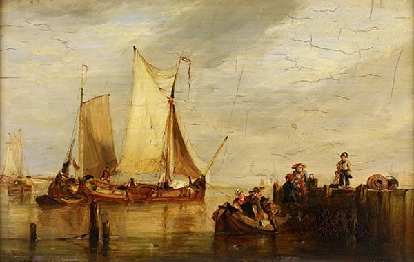 A Scene in Holland (Dated 1828)