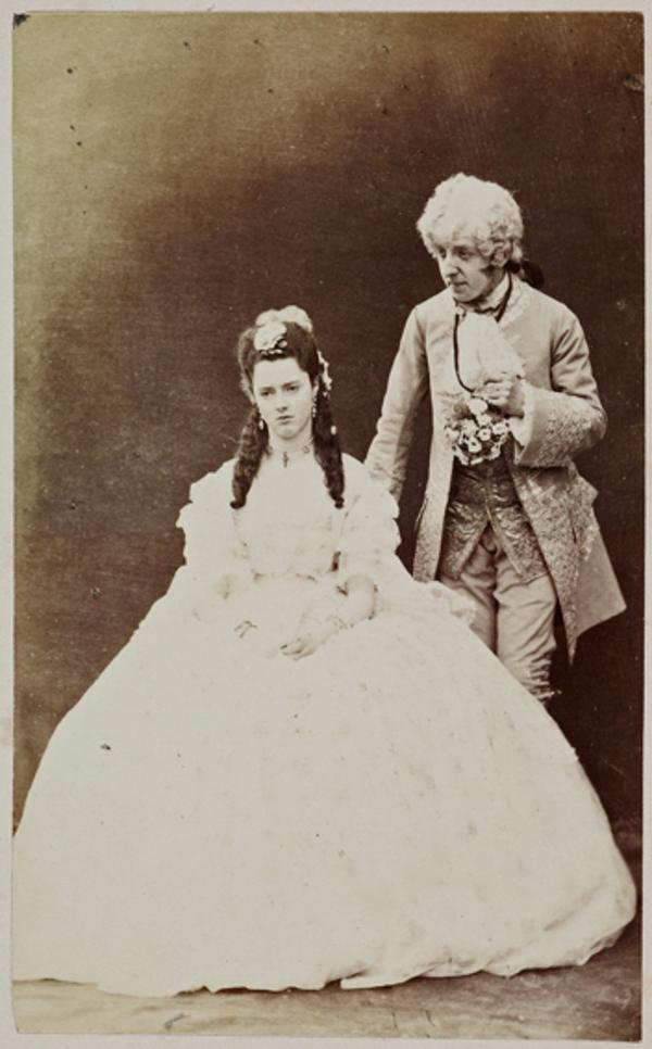 The Hon. Lewis Wingfield and Miss G. Moncrieffe as Mr Primrose and Ellen Murray in 'Popping the Question' (1 September 1863)