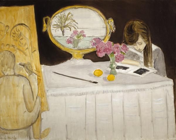 La Leçon de peinture or La Séance de peinture [The Painting Lesson or The Painting Session] (1919)