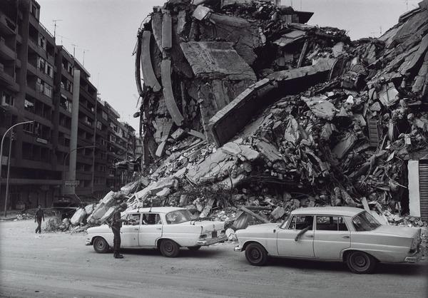 Destroyed Part of West Beirut due to Israeli Bombing (1982 (printed 2013))