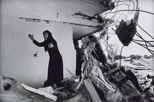 A Palestinian Mother in Her Destroyed House, Sabra Camp (1982 (printed 2013))