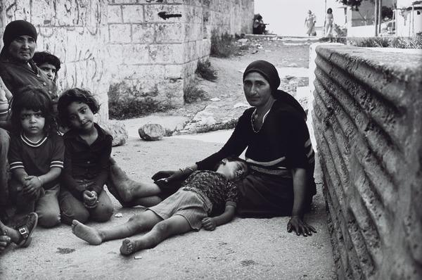 Palestinian Family whose Fathers were Murdered by Christian Phalange in Karantina (1976 (printed 2013))