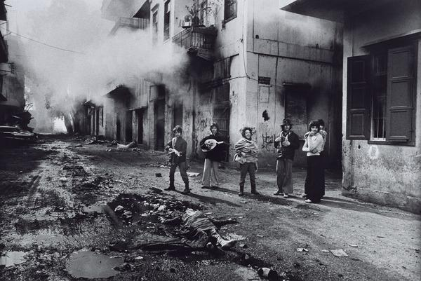 Young Christian Youth Celebrating the Death of a Young Palestinian Girl, Beirut (1976 (printed 2013))