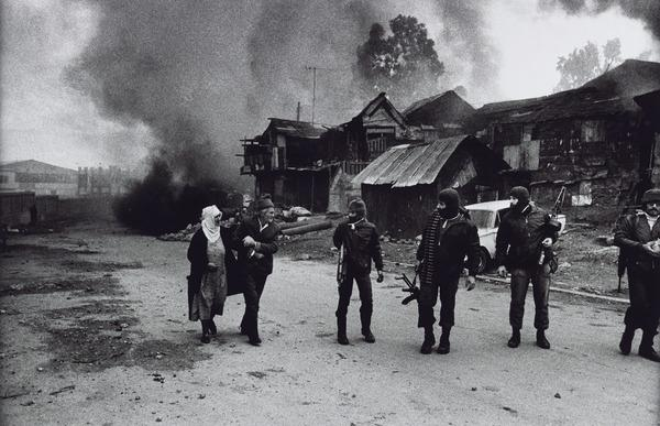 An Old Palestinian Couple Allowed to Leave the Massacre, Karantina, East Beirut (1976 (printed 2013))