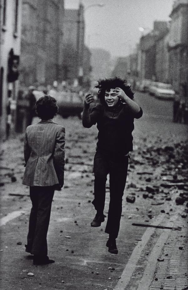A Jubilant Catholic Youth After Stoning British Soldiers, The Bogside, Londonderry, Northern Ireland (1971 (printed 2013))